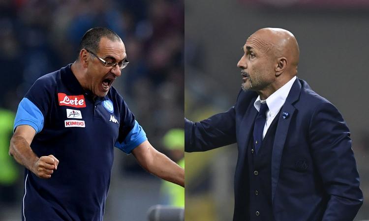 Napoli-Inter, una sfida per 22 facce di ca... Come la vivono Sarri e Spalletti