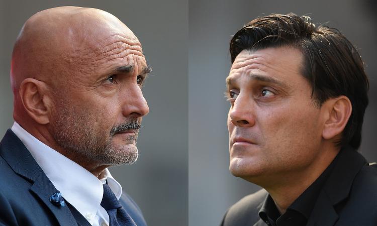 Spalletti risponde a Montella sugli arbitri: 'Il rigore? Guardi anche le ammonizioni...'