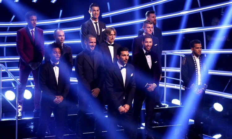 Premi Fifa: CR7 the best e Buffon n°1, Bonucci nella top 11 allenata da Zidane