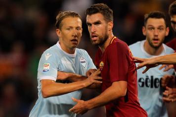 Lucas Leiva Lazio Strootman Roma derby