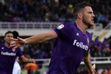 Veretout Fiorentina esulta