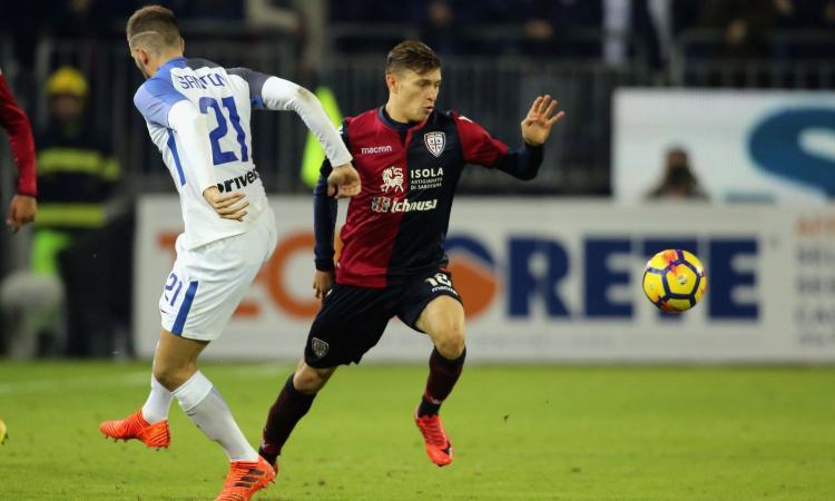 Ds Cagliari: 'Roma e altre big su Barella, ma a gennaio resta qui'