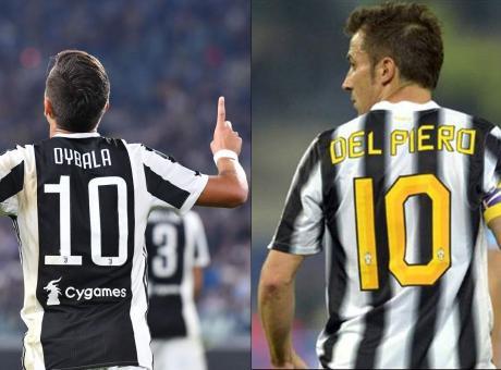Juve: Dybala-Del Piero, domenica da 10