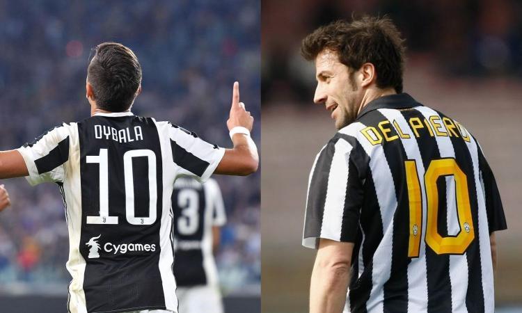 Juve, Dybala fa gli auguri a Del Piero: 'Una leggenda!' FOTO