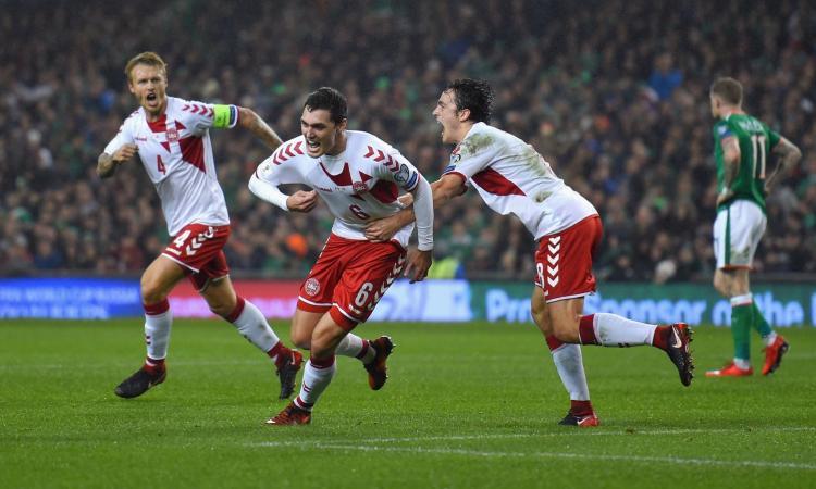 Irlanda-Danimarca 1-5: il tabellino