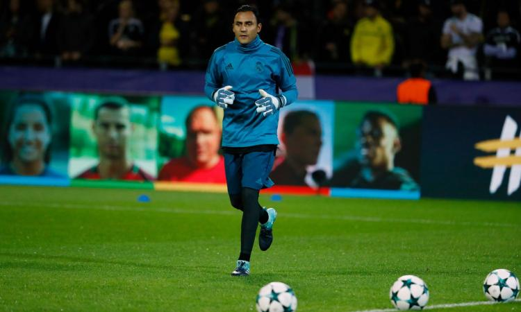 Allenamento calcio Real Madrid portiere