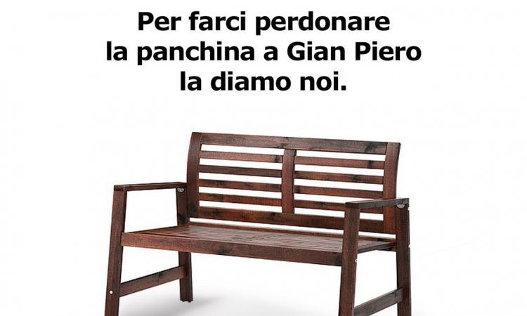 Ikea 'sfotte' l'Italia: 'La panchina a Ventura la diamo noi, ma ridateci le matite'