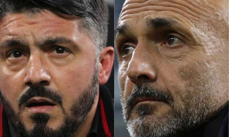 Milan, Gattuso prepara il sorpasso. Ma l'Inter di Spalletti può giocare il jolly