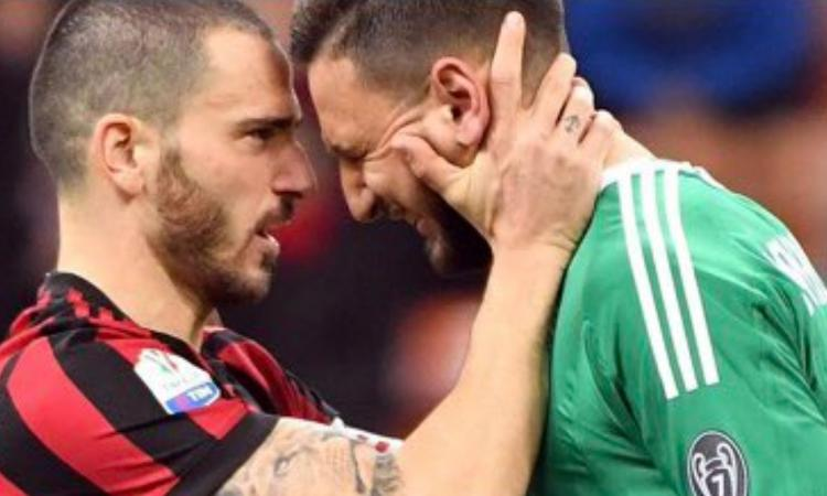 Milan: Donnarumma in lacrime, Bonucci e Gattuso lo rincuorano