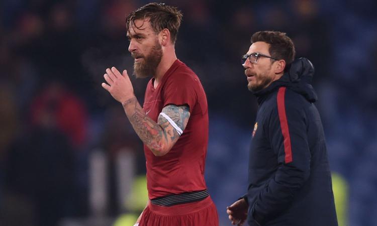Roma, De Rossi è recuperato. In panchina col Torino?