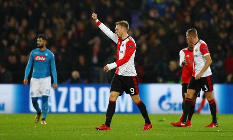 Il Napoli va ko col Feyenoord e saluta la Champions League