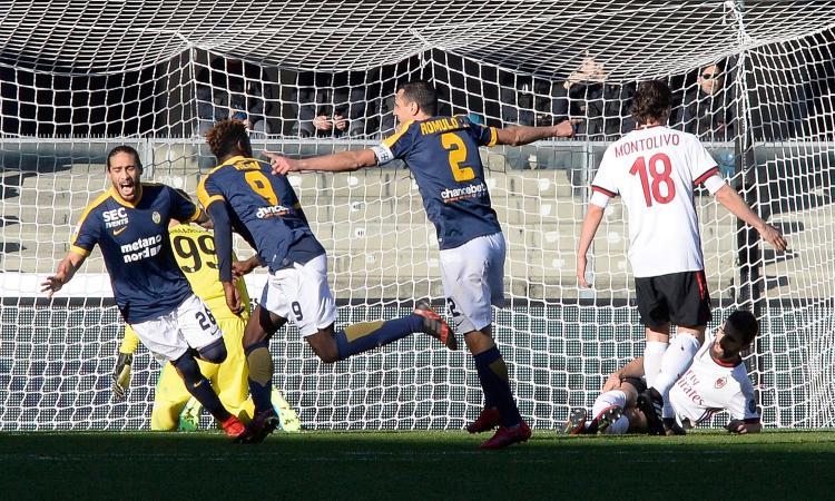 Disfatta Milan: 3-0 senza appello contro il Verona, è di nuovo crisi VIDEO
