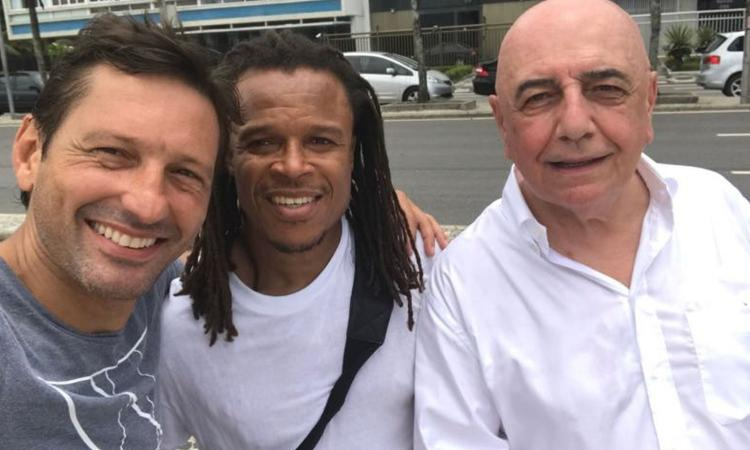 FOTO Ex Milan, Leonardo con Galliani e Davids a Rio: 'Che sorpresa!'