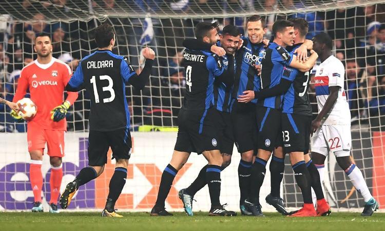 L'Atalanta non si ferma più: 1-0 al Lione e primo posto nel girone
