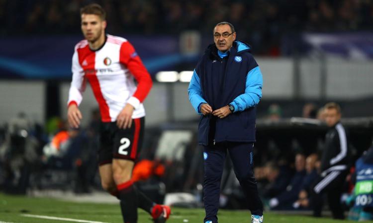 Sarri bacchetta l'attacco: 'Ci siamo persi, non ci muoviamo come prima. Guardiola? Tra tre giorni ha il derby...'