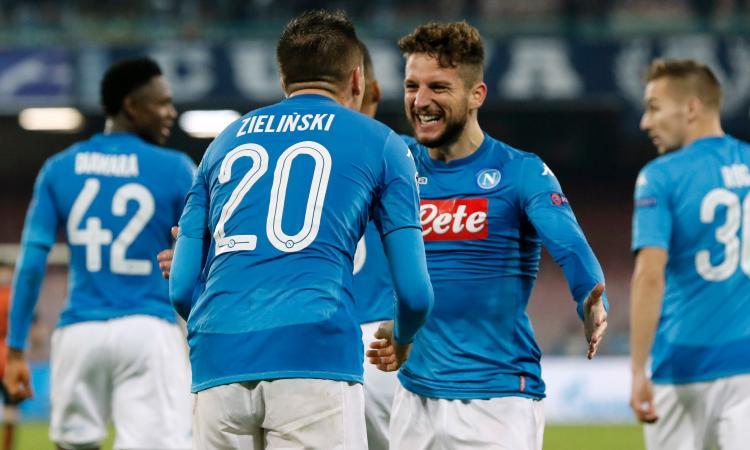 Napoli, con il Wolfsburg test per Zielinski e Mertens