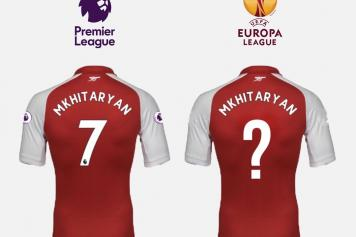 lowest price 0a023 c0e69 Here's why Mkhitaryan will wear two different numbers for ...