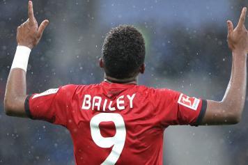 Bailey Bayer Leverkusen esultanza