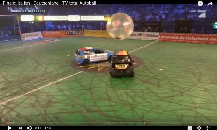 Autoball, calcio in auto: l'Italia batte sempre la Germania FOTO e VIDEO