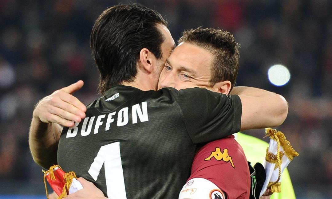 Buffon, hai visto Totti? Ha liberato la Roma che ora vince