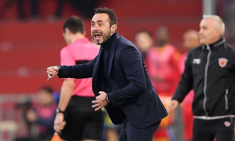Benevento, De Zerbi: 'Verona più importante delle altre, Sagna è un campione'