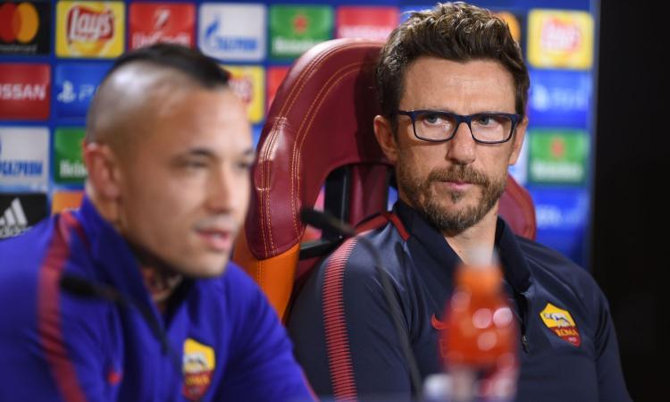 Di Francesco: 'Nainggolan titolare con l'Inter. Schick? Ci aspettavamo di più'