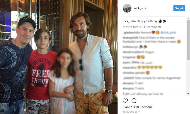 Ecco Nicolò Pirlo: il figlio di Andrea che farà il provino con l'Under 16 della Juve