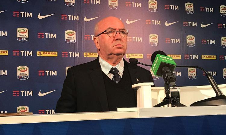 Tavecchio: 'Marotta-Figc va bene, ma la Juve non può monopolizzare il sistema'