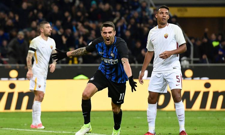 L'Inter riacciuffa la Roma 1-1. Scontro Champions fra errori e paura di perdere