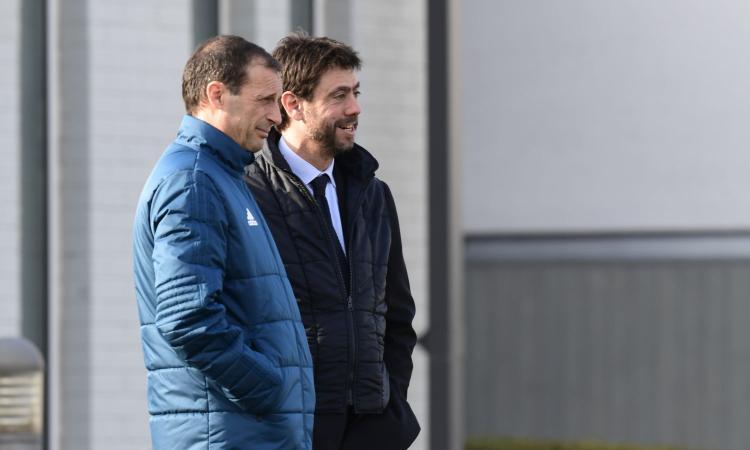Juve, primo incontro 'interlocutorio' tra Agnelli e Allegri: nuovo summit con Paratici e Nedved