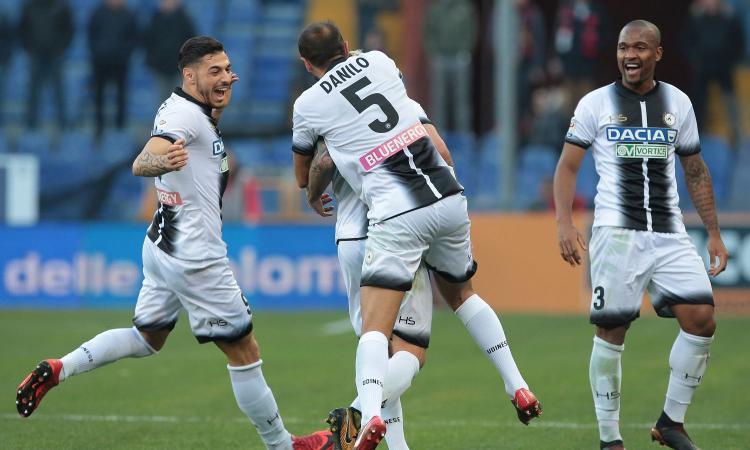 Udinese, UFFICIALE: lesione per Danilo, i tempi di recupero