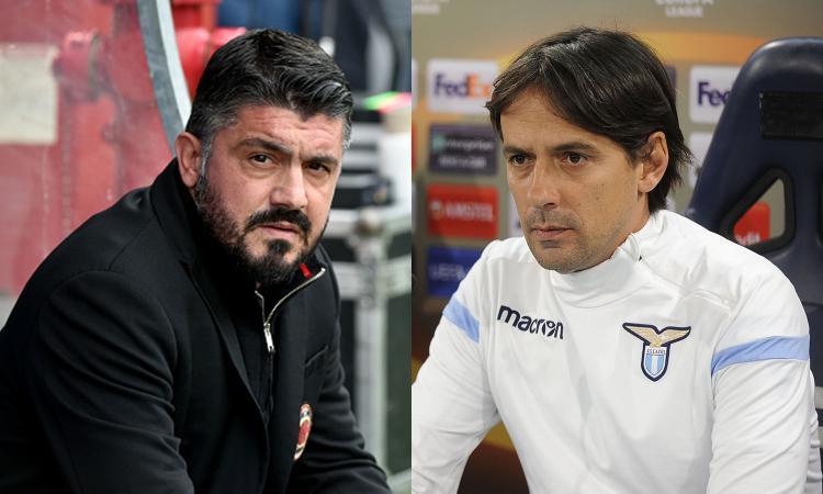 Milan-Lazio, Gattuso sfida il suo successore? Inzaghi il preferito di Leonardo
