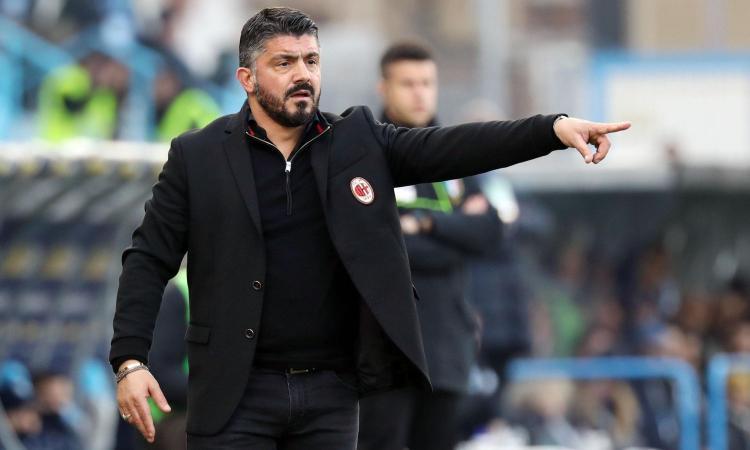 Milan, Gattuso: 'Mi sento ancora un traghettatore, domani con umiltà per fare risultato'