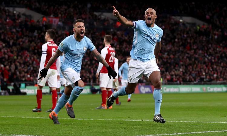 Il Manchester City batte 3-0 l'Arsenal e conquista la Coppa di Lega