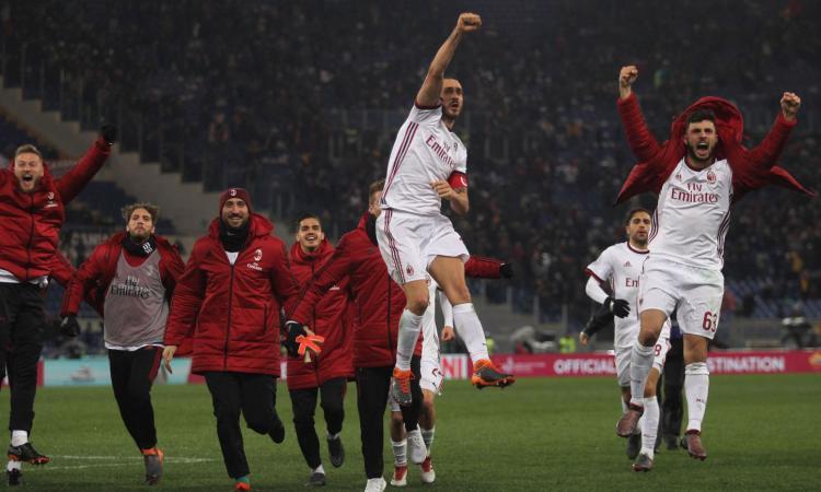 Bonucci, Romagnoli, Calhanoglu, Cutrone: i giocatori del Milan esultano sui social. E André Silva...