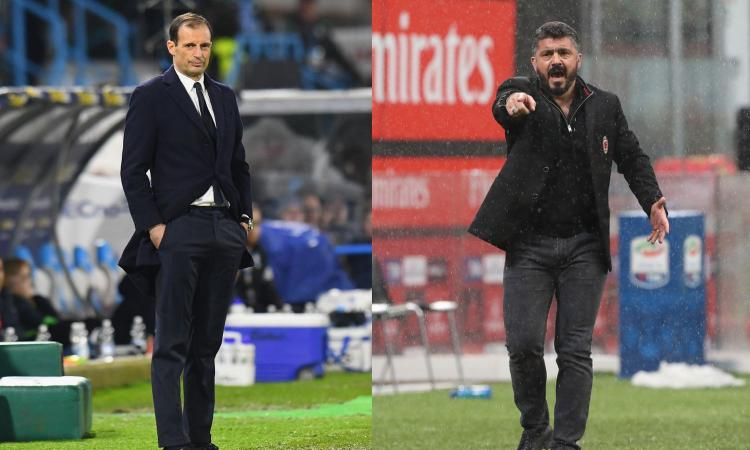 Supercoppa, Juventus-Milan: plebiscito bianconero, il 93% punta su Allegri. Gattuso a 6.50