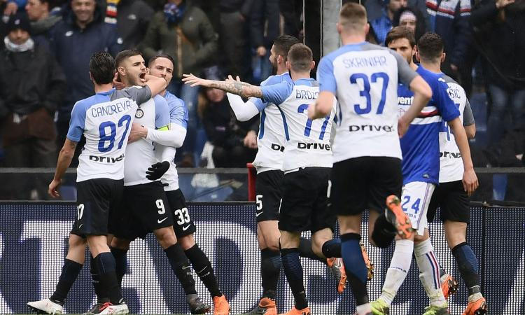 L'Inter sbanca Marassi: 5-0 alla Samp, con gol di Perisic e poker di Icardi
