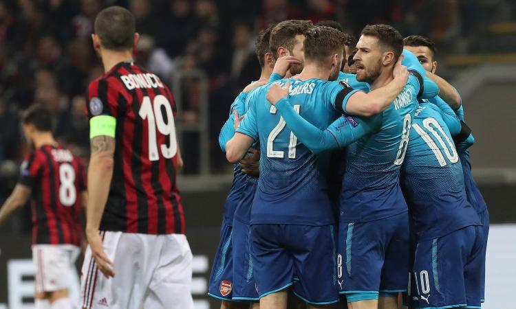 Arsenal troppo forte per il Milan di Gattuso: 2-0 a San Siro, ora è durissima