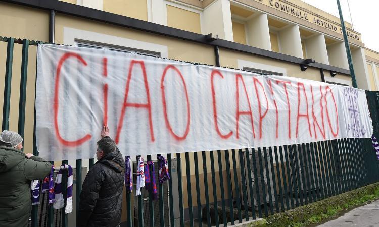 Astori, oggi lutto cittadino a Firenze: un minuto di silenzio e saracinesche abbassate