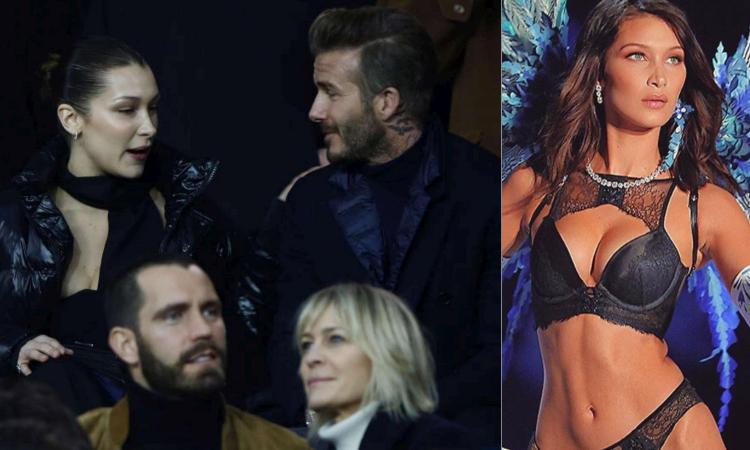 Beckham allo stadio con la bella Bella. Un angelo a Parigi per PSG-Real FOTO