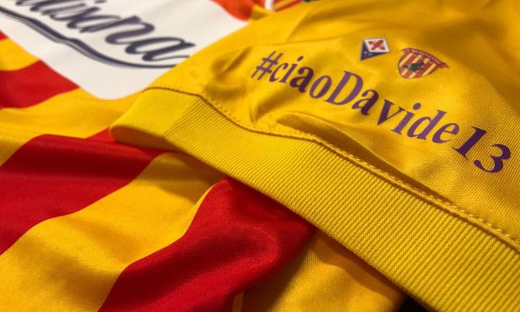 Benevento, sulla manica la scritta: '#ciaoDavide13'