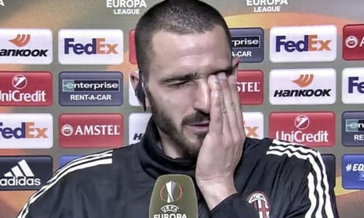 Milan, Bonucci: 'Non siamo pronti di testa per certe partite. Avevamo paura'. Poi si commuove per Astori
