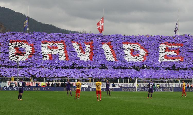 Fiorentina-Cagliari: prima pietra per il campo a Betlemme in memoria di Astori