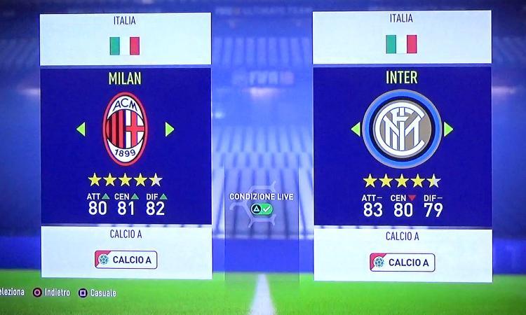 Milan-Inter, la rivincita del derby di Calciomercato.com a FIFA18 VIDEO