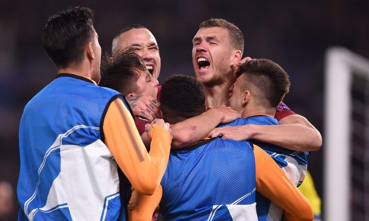 Roma ai quarti di finale di Champions! La decide Dzeko: 1-0 allo Shakhtar