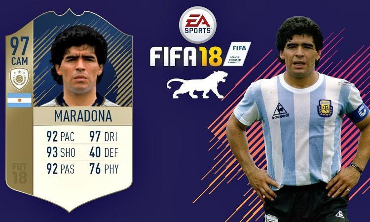 FIFA del Lupo: ecco la card Maradona 97, non ha scelto Icardi e Higuain