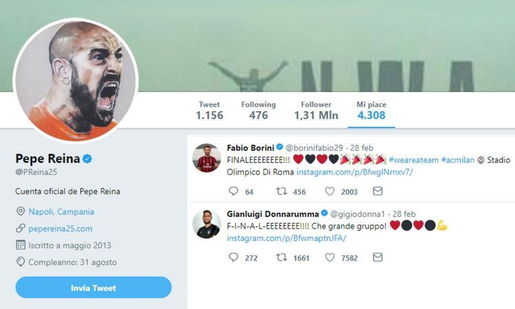 Milan, accordo totale con Reina: dai 'like' al ruolo, ecco quando può firmare