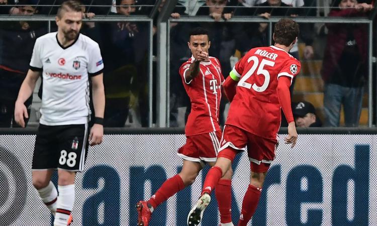 Il Bayern Monaco non fa sconti: 3-1 al Besiktas e vola ai quarti