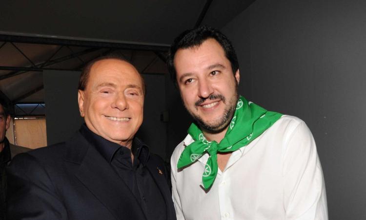 Milan in tv, Salvini ospite di Berlusconi: 'Ictus? Fake news messe in giro da babbei'