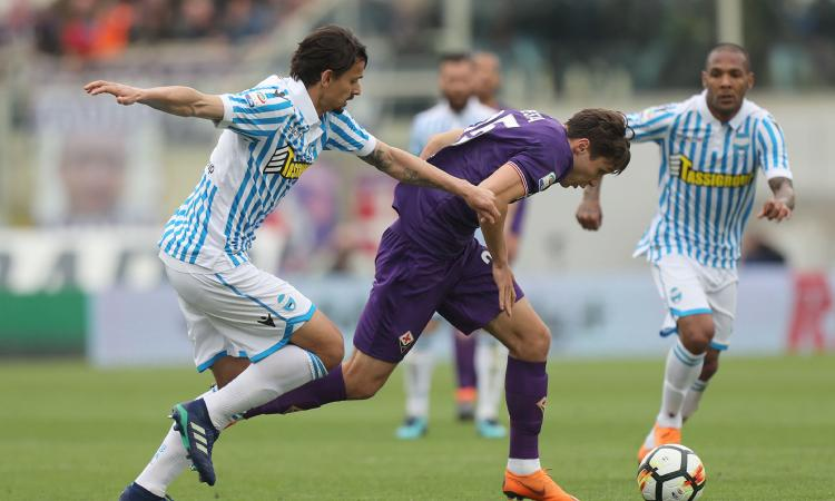 Fiorentina fermata dalla Spal, vince il Bologna, Sassuolo-Benevento 2-2